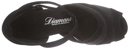 DiamantDiamant Damen Latein Tanzschuhe 102-064-040 - Scarpe da Ballo Donna Nero (Nero (nero))