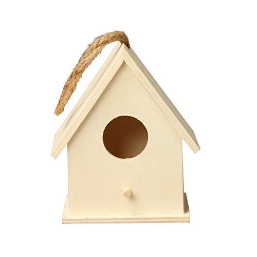 Hffan Hölzernes Vogelhaus Nistkasten Nest House Bird Box Kreative Wandmontage Outdoor Willkommen Dekorative In Ihrem Eigenen Hinterhof Komfortbereich Zum Ausruhen & Nisten Löcher Gute Belüftung -