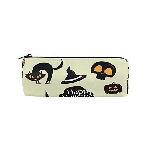 Halloween Katze Punpkin Totenkopf Hexe Hut Stifthalter Stifthalter Große Kapazität Tasche Make-up Kosmetik Box Schule Büro Reise Tasche