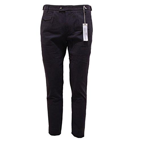 6679Q pantalone uomo DANIELE ALESSANDRINI GREY blu pant trouser men [46]