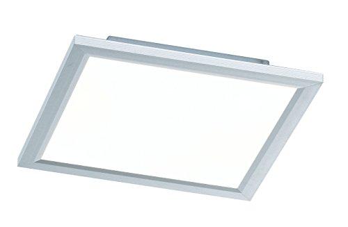 WOFI Deckenleuchte, 1-flammig, Serie Liv, 1 x LED, 24 W, Breite 30 cm, Höhe 5.5 cm, Tiefe 30 cm, Kelvin 6000, Lumen 1500, silber 9693.01.70.5300 Serie Led-licht