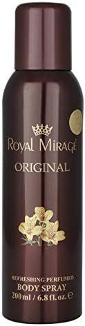 Royal Mirage Original Body Spray For Unisex, Ambergris, 200 ml
