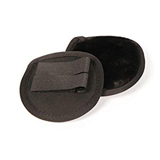 Amesbichler Harry`s Horse Winter Ohrenwärmer - Ohrenschutz Ohren Pads für Helme - Reitkappen, Ohrenschützer schwarz mit Kunstfell EAR PADS