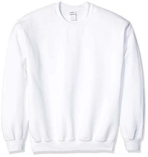 Gildan Herren Fleece Crewneck Sweatshirt, weiß, Mittel Fleece-pullover