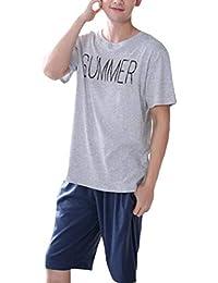 Vepodrau Pijama De Dos Piezas Los Hombres Conjunto Tops Cortos Shorts Sleepwear Sets