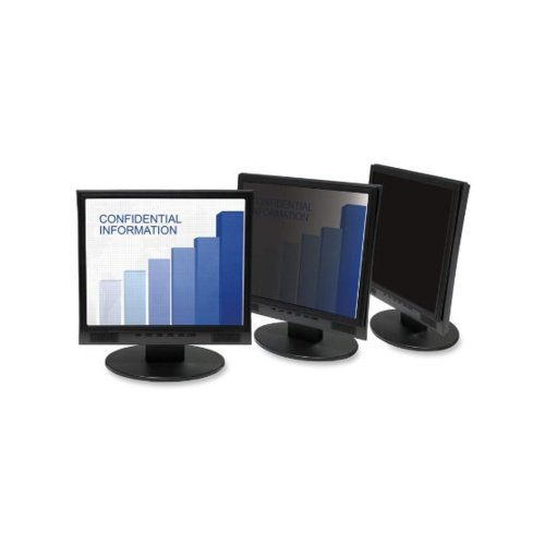 3M PF319W leichten LCD umrahmt Privacy Filter mit Anti-Glare Sichtbare Bildschirmgröße (45,7 cm (18 Zoll) bis 48,3 cm (19 Zoll) Widescreen 16:9) schwarz - Umrahmt