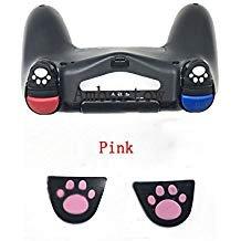 Custom Design Silikon Trigger Tasten Aufkleber w/ADHENSIVE für PS4Controller L2R2Button Cover (Pink) ()