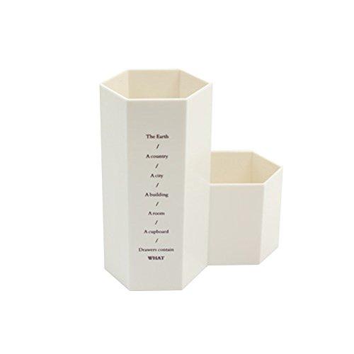 Oyfel forniture ufficio portaoggetti in plastica motivo a nido d' ape beige per bambini ragazza 1pcs 12 * 6.3 * 5.6cm beige