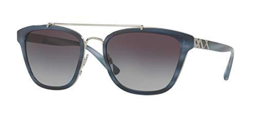 BURBERRY Damen 0BE4240 36288G 56 Sonnenbrille, Blau (Striped Blue/Greygradient),