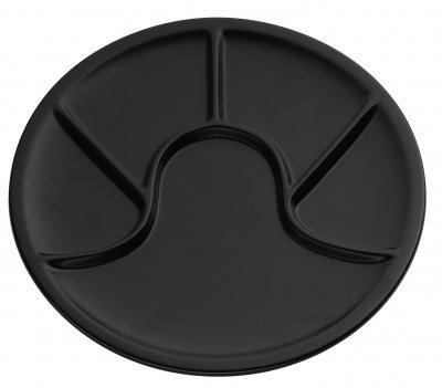 Küchenprofi 2110201000 Fondueteller schwarz Durchmesser 26 cm, h.nr.