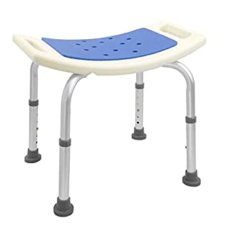 PrimeMatik - Ergonomic shower stool with adjustable height with padding