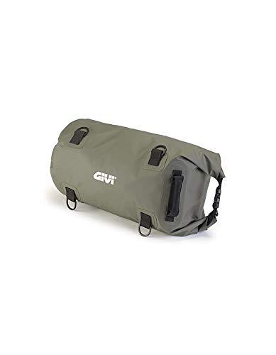 Givi Bolsa–Bolsa cilíndrica Impermeable para sillín o portaequipajes, 30l, Color Verde Caqui,...