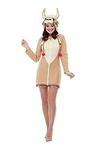 Smiffys 47770S - Disfraz de llama, para mujer, color marrón, talla S