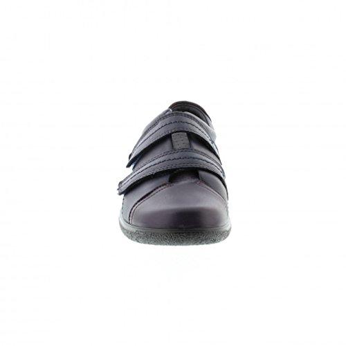 Hotter Leap Ee, chaussures avec fermeture velcro femme Bleu Marine