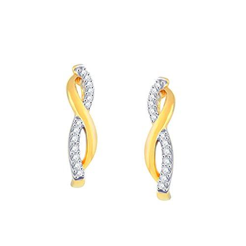 Giantti 14carats Diamant pour femme Dangler Boucles d'oreilles (0.154CT, VS/Si-clarity, Gh-colour)