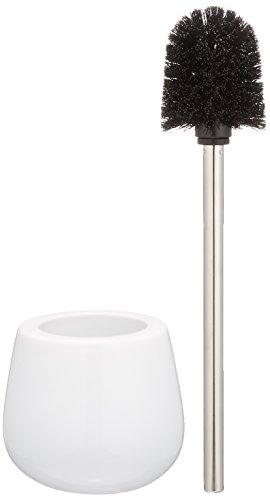 Wenko 21655100 WC Garnitur Malta und Bürstenhalter, 14 x 38,5 x 14 cm, weiß, Keramik