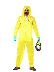 SMIFFYS Licenza ufficiale Disfraz de Breaking Bad, Amarillo, con buzo de protección, máscara, guantes y pe