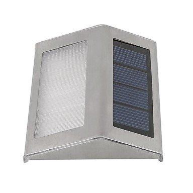 lampade da parete solare 2 LED esterno via del giardino impermeabile scale solare luce della lampada alimentata , warm white