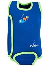 Swimbest Traje de baño Baby, Azul/Verde, 0-6 meses (BWTWS3-06)