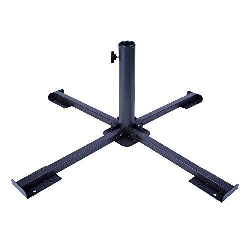 Aktive Garden 53991 - Base Sombrilla Plegable de Metal 86 x 86 x 34 cm, Color Negro