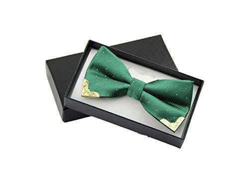 Men Bow Tie Fake Collar Women Silk Tie Butterfly Adjustable Bowtie Halloween Wedding Bow Ties,Green Sky Blue Mens Tie