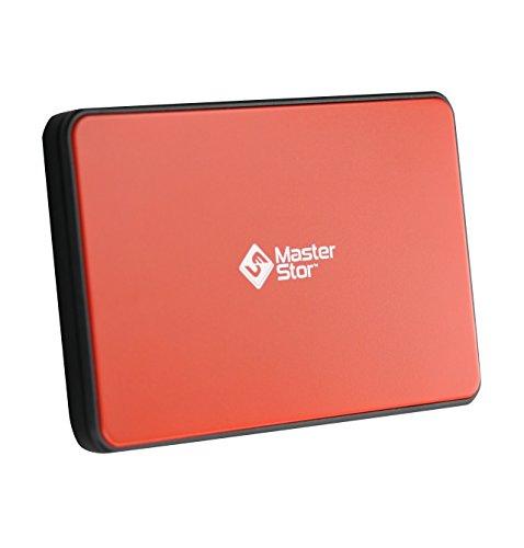 (MasterStor 2 Jahre Garantie)-rote externe Festplatte USB 3.0 super-schnelle 2,5-Zoll SATA externe Festplatte Laufwerk Laptop Festplatte Portable Festplatte (250 GB MS rot)