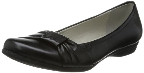 Clarks Discovery Bay, Ballerine Donna, Nero (Black Leather), UK3