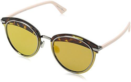 Dior Damen DIOROFFSET1 83 01K Sonnenbrille, Pink (Havana Ltpnk/Brw Gd Grey Speckled Ar Marl), 62