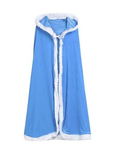 Ansenesna Weihnachten Kostüm Kinder Jungs Mädchen Santa Hoodie Cosplay Cape Kleidung (Blau)