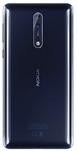 (Certified Refurbished) Nokia 8 (Polished Blue, 64GB)