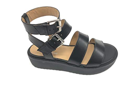 Janet Sport 43907 Sandalo Nero Comodo in Pelle (40 EU)