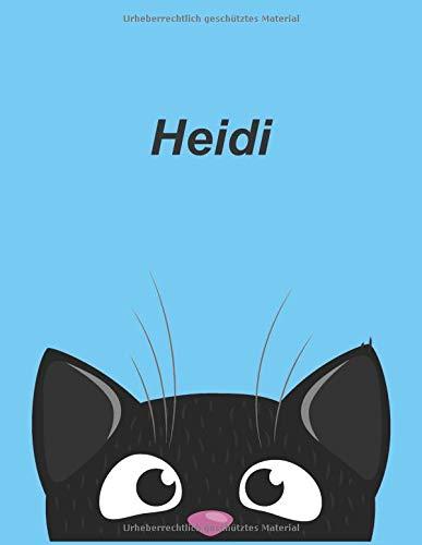 Personalisiertes Notizbuch: Heidi - über 100 Seiten, liniert im A4+ Format