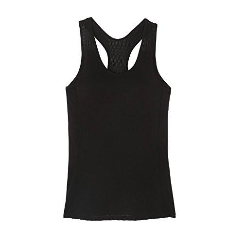Brightup Le Donne a Spalle Scoperte Maniche Sport Maglietta Yoga Fitness Vest Canotte
