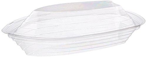 Ultra Clear Kunststoff Banana Split Boot Geschirr Eis Schalen und Deckel, 40Pc.–20–8Oz und 20–12Oz.-20Sets 40PC.–verwendet als Set oder separat
