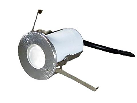 lichtdiscount - 230V LED Terrassen Leuchte - Bodenlampe Strahler Wandleuchte IP68 (warmweiss)