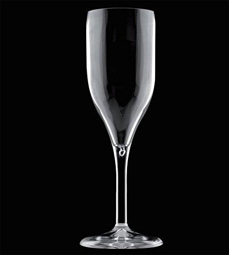 Drinksafe Champagner Flöte Glas, Kunststoff, transparent
