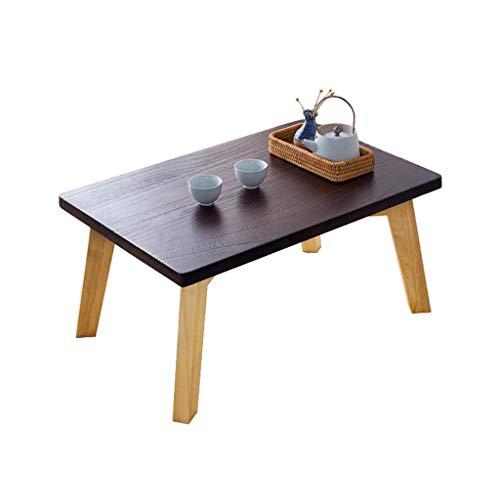 Home warehouse Massivholz-Tea-Tisch, Kreativer Japanese-Stil Small Side Table Bay Fenster Kleine Tabelle Multifunktion Dekoration Niedriger Tisch Tea-Tisch Möbel,60 * 40 * 30CM (Tabelle Dekorationen 60)