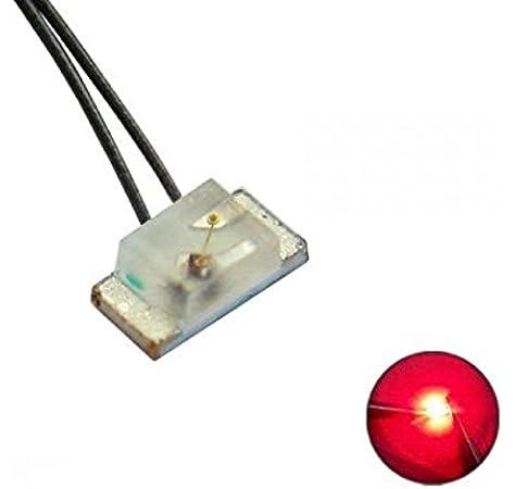 SMD LED 0603 ultraflach 0,4mm TIEF BLAU Cu-Draht 35cm XL deep blue magnet wire