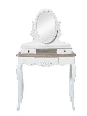 Toilette bianca in legno con specchio stile vintage L'ARTE DI NACCHI YY-15