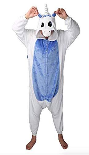 Mujer Pijama Animal Traje de Disfraz Cosplay para Carnaval Halloween Navidad Ropa de Noche Unisex para Niños Niñas Adultos (Azul oscuro, L(168-178cm))