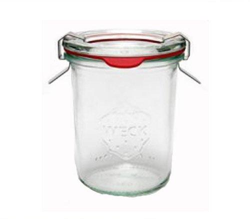 Weck 12 Stück Sturzglas Einmachglas Einweckglas inkl. Gummiringe und Weckklammern