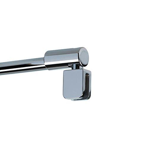 Schulte Haltestange Wandhalterung Duschwand Stabilisator 122 cm, 1 Stück, chromoptik, 4056397002239