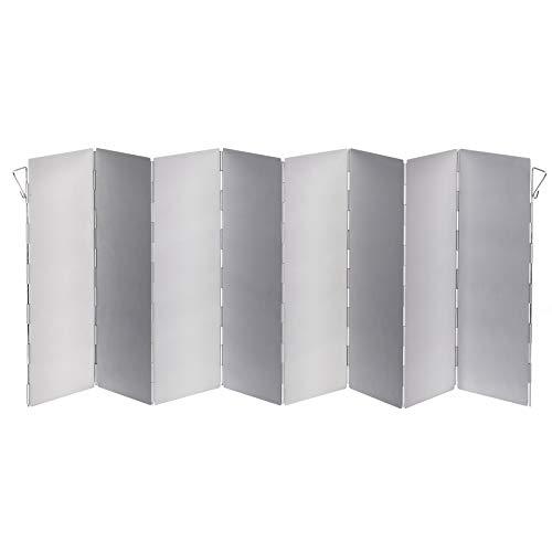 Faltbarer Koch-Windschutz aus Aluminium 26x80 cm für Camping und Haushalt • Windschutz für Gaskocher Faltbar Kocher Campingkocher Hitzereflektor