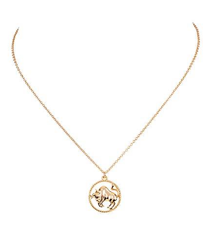 Gliederkette, Sternzeichen, Stier, Tierkreiszeichen, Anhänger, Zopfoptik, Gold (779-050) ()