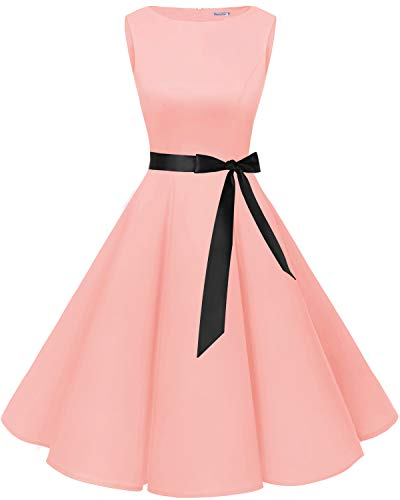 cd19b04f1837 Bbonlinedress 50s Vestidos Vintage Retro Rockabilly Clásico Blush XS