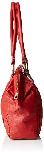 """Borsa in pelle modello dottore - borsa da spalla di Catwalk Collection """"Doctor"""" Rosso (Rot)"""