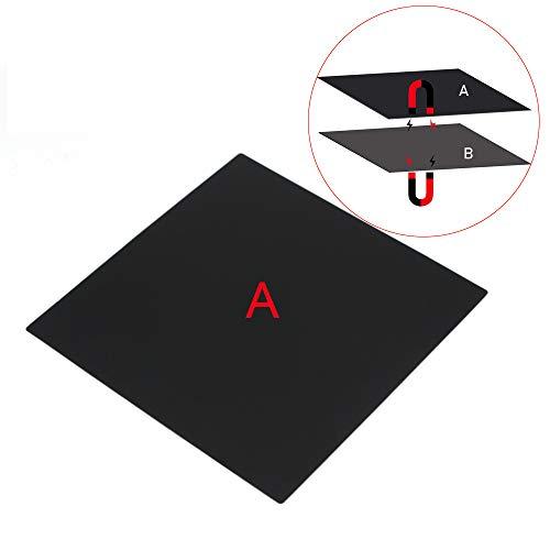 FYSETC 3D-Drucker magnetische Baufläche A Plattform, 220 x 220 mm / 8.6 x 8.6 in Upgrade Flex magnetische Hotbed Bauplatte für Stahlfeder Oberfläche Blech für Prusa i3 Anet A8 A6 Wanhao i3 Ender 3 Pro