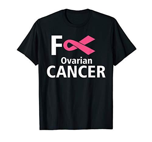 Fuck Ovarialkrebs Survivor Pink Band Awareness Geschenk T-Shirt -