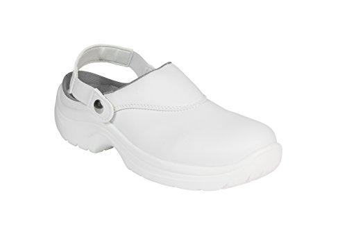 AWC eCO sAFE chaussures 23144 arbeitsandale avec renfort en acier Blanc - blanc
