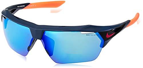 Nike occhiali da sole hyperforce unisex matt obsidian lenti grey blu flash ev1029 464 75-10-130